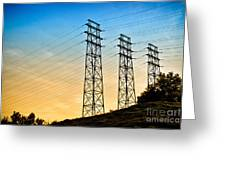 Power Lines Greeting Card by Amy Cicconi