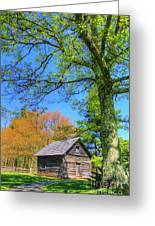 Puckett's Cabin Greeting Card by Paul Johnson