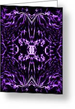 Purple Series 2 Greeting Card by J D Owen