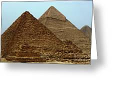 Pyramids At Giza Greeting Card by Bob Christopher