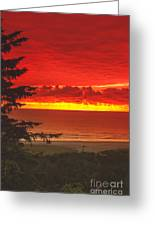 Red Pacific Greeting Card by Robert Bales
