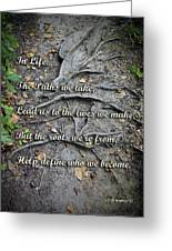 Roots Greeting Card by Brian Wallace