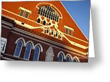 Ryman Auditorium Greeting Card by Brian Jannsen