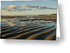 Saunton Sands Devon Greeting Card by Pete Hemington