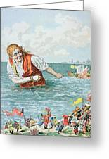 Scene From Gullivers Travels Greeting Card by Frederic Lix