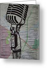 Shure 55s On Map Greeting Card by William Cauthern