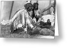 SIOUX MEDICINE MAN, c1907 Greeting Card by Granger