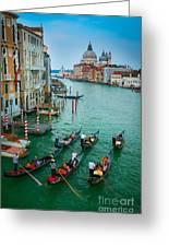 Six Gondolas Greeting Card by Inge Johnsson