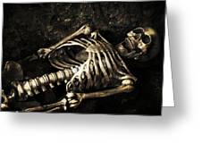 Skeleton Greeting Card by Amanda And Christopher Elwell