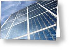 Skyscraper Greeting Card by Michal Bednarek