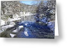 Snow On Gauley River Greeting Card by Thomas R Fletcher