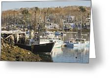 South Bristol and Fishing Boats on the Coast of Maine Greeting Card by Keith Webber Jr