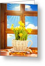 Spring Window Greeting Card by Amanda And Christopher Elwell