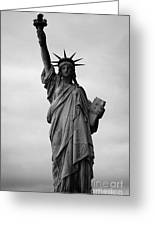 Statue Of Liberty National Monument Liberty Island New York City Greeting Card by Joe Fox