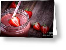 Strawberry Smoothie Greeting Card by Jane Rix