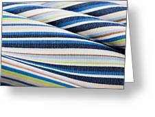 Striped Material Greeting Card by Tom Gowanlock