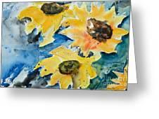 Sunflowers Greeting Card by Ismeta Gruenwald