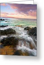 Sunrise Surge Greeting Card by Mike  Dawson