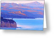 Sunset Time Malibu Greeting Card by Elena Roche