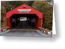 Taftsville Covered Bridge Vermont Greeting Card by Edward Fielding