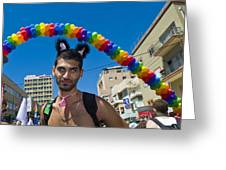 Tel Aviv Gay Pride Greeting Card by Kobby Dagan