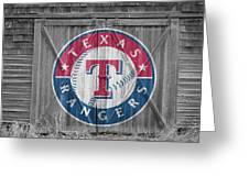 Texas Rangers Greeting Card by Joe Hamilton