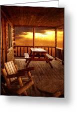 The Cabin Greeting Card by Joann Vitali