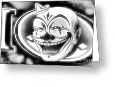 The Clown Wasn't Funny Greeting Card by Newel Hunter