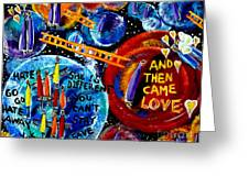 Then Came Love Greeting Card by Jackie Carpenter