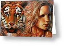 Tiger Greeting Card by Arthur Braginsky