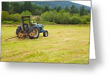 Tractor Greeting Card by Graham Foulkes