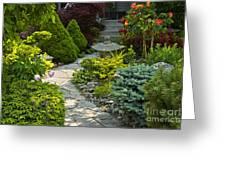 Tranquil Garden  Greeting Card by Elena Elisseeva