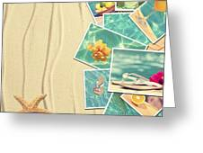 Vacation Postcards Greeting Card by Amanda And Christopher Elwell
