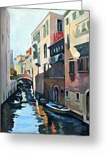 Venetian Channel Greeting Card by Filip Mihail