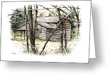 Walker Sisters Farm House Greeting Card by Bob  George