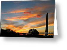 Washington Monument Greeting Card by Olivier Le Queinec
