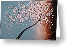 White Blossoms Greeting Card by Tomoko Koyama