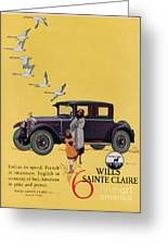 Wills Sainte Claire 1925 1920s Usa Cc Greeting Card by The Advertising Archives