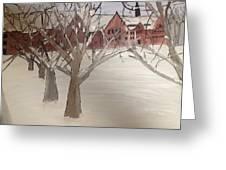 Winter University Greeting Card by Paula Brown