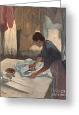 Woman Ironing Greeting Card by Edgar Degas