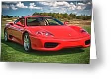 2001 Ferrari 360 Modena Greeting Card by Sebastian Musial