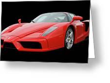2002 Enzo Ferrari 400 Greeting Card by Jack Pumphrey