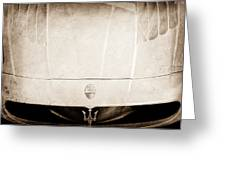 2005 Maserati Mc12 Hood Ornament Greeting Card by Jill Reger