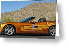 2007 Chevrolet Corvette Indy Pace Car Greeting Card by Jill Reger