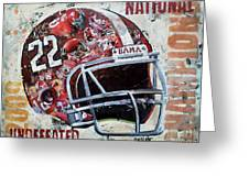 2009 Alabama National Champions Greeting Card by Alaina Enslen