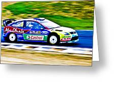 2010 Ford Focus Wrc Greeting Card by motography aka Phil Clark