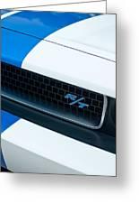 2011 Dodge Challenger Rt Grille Emblem Greeting Card by Jill Reger
