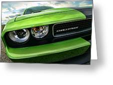 2011 Dodge Challenger Srt8 Green With Envy Greeting Card by Gordon Dean II