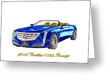 2014 Cadillac Ciel Concept Greeting Card by Jack Pumphrey