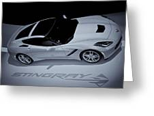 2014 Chevy Corvette  Bw Greeting Card by Rachel Cohen
